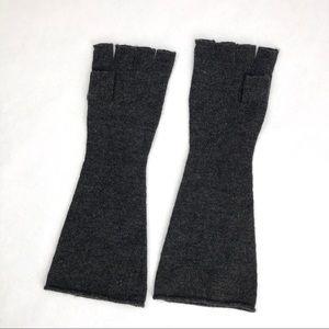 My Gray Fingerless Gloves